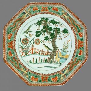 Famille verte dish, Chinese export porcelain