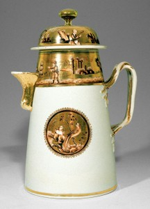 Chocolate pot, Chinese export porcelain