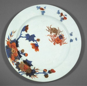 Imari dish, Chinese export porcelain