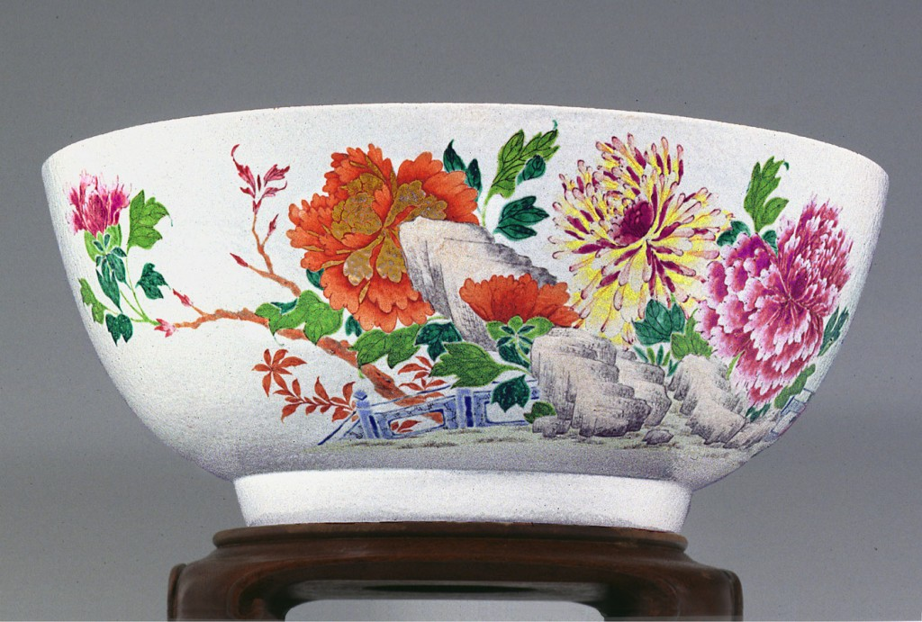 Punch bowl, Chinese export porcelain