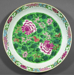 Saucer dish, Chinese export porcelain