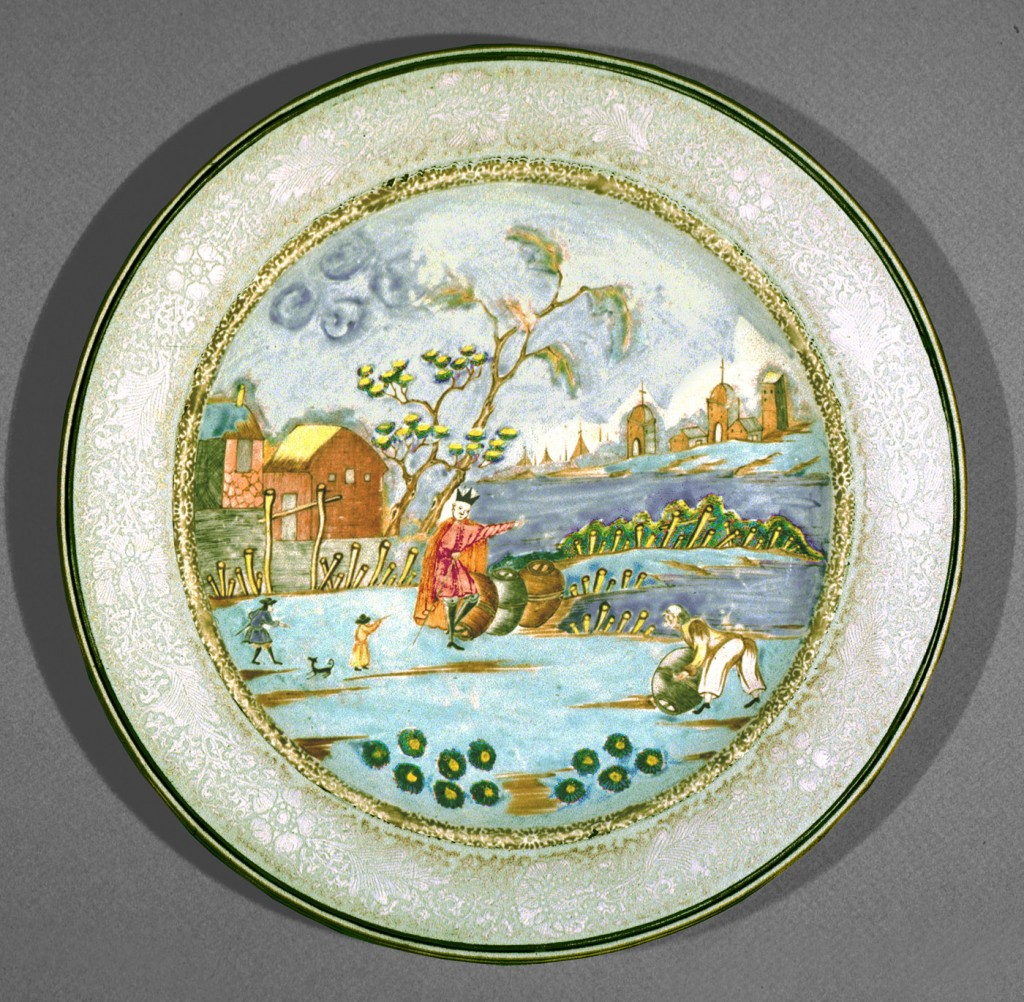Peter teh Great dish, Chinese export porcelain