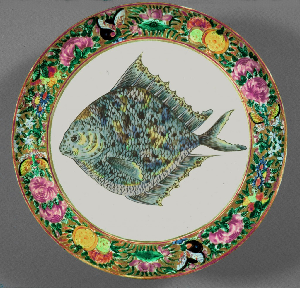 U. S. Grant plate, Chinese export porcelain