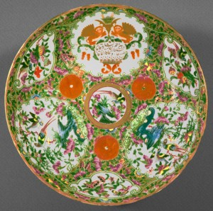 Dish, Chinese export porcelain