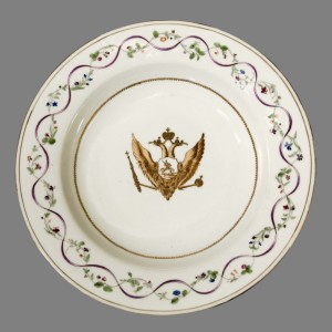 Catherine the Great service soup plate, Chinese export porcelain