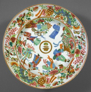Soup plate with crest of Hamilton, Chinese export porcelain