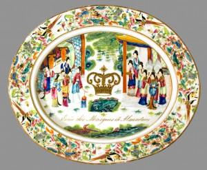 Dish for strainer, Chinese export porcelain