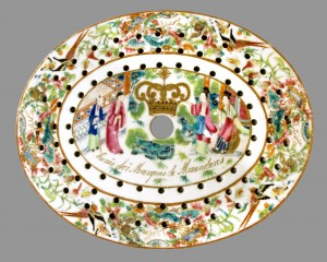 Strainer for dish, Chinese export porcelain