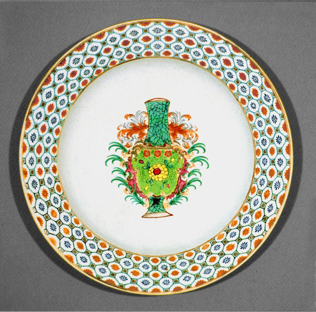 Armorial dish, Chinese export porcelain