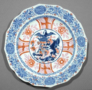 Armorial plate, Chinese export porcelain
