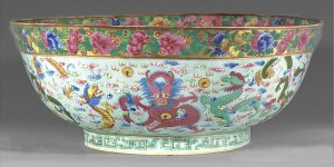Punch bowl view 2, Chinese export porcelain